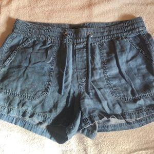 Light blue jean shorts from Banana Republic
